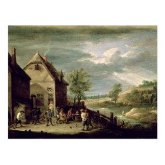 Peasants Playing Boules Postcard