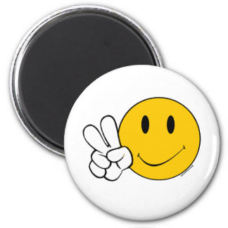 Pease Smiley Face Magnet