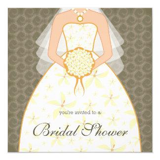 Peat Wedding Dress Custom Bridal Shower Invitation