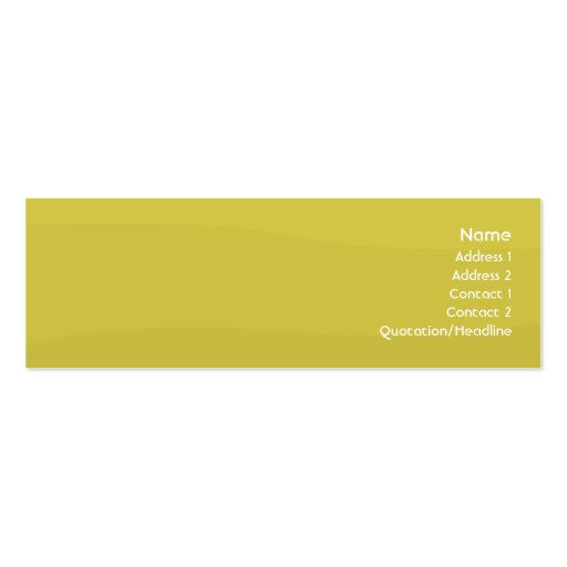 Peawave - flaco tarjetas de visita