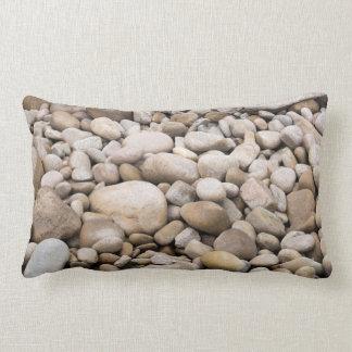 Pebble background pattern throw pillow
