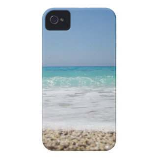 Pebble Beach and Sea Waves iPhone 4 Case