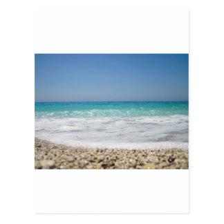 Pebble Beach and Sea Waves Postcard