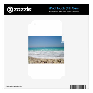 Pebble Beach and Sea Waves Skins For iPod Touch 4G