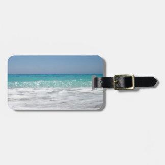 Pebble Beach and Sea Waves Travel Bag Tag