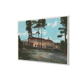 Pebble Beach, CA - Del Monte Lodge View and Canvas Print