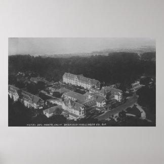 Pebble Beach, CA - Hotel Del Monte Aerial View Poster