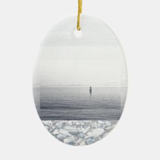 Pebble Beach Ceramic Ornament