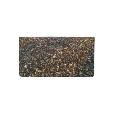 Beach Themed pebble beach checkbook cover