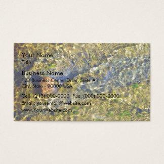 Pebble in flowing water business card