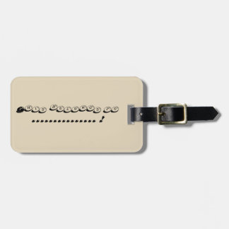 Pebble luggage tag
