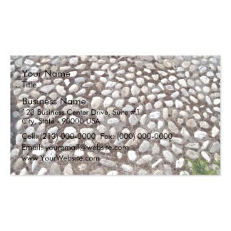 Pebble Pavement and Green Plants Business Card