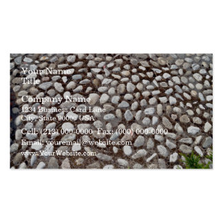 Pebble Pavement and Green Plants Business Cards