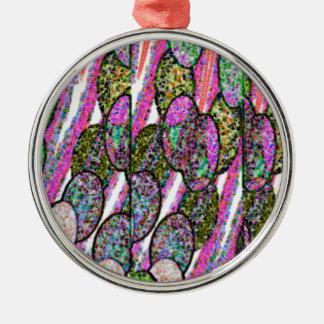 Pebble Speckle Metal Ornament