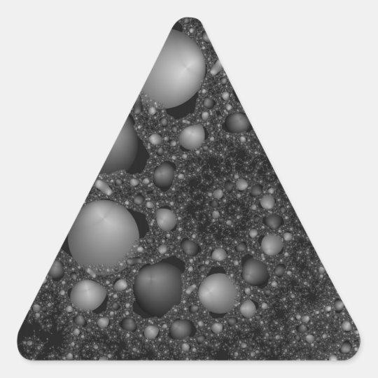 Pebble Spiral Triangle Sticker