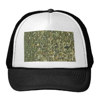 Pebble Stone Rockwall Texture Background Trucker Hat