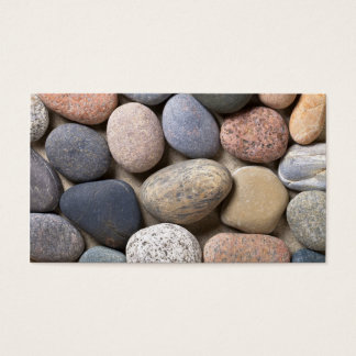 Pebble Stones On Sand For Background Business Card