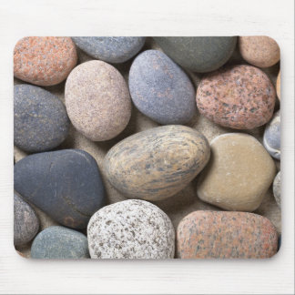 Pebble Stones On Sand For Background Mouse Pad