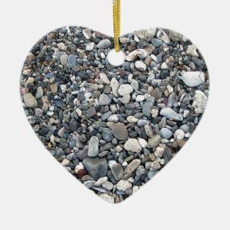Pebble texture ceramic ornament