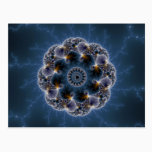 Pebbled Fractal Art Postcard