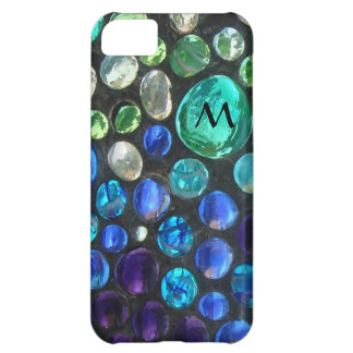 Pebbled Glass Marble Monogram Case