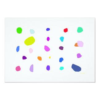 Pebbles 2 5x7 paper invitation card
