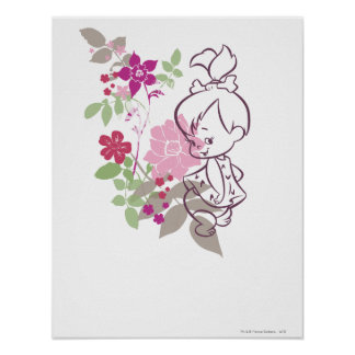 PEBBLES™ A Cutie In The Flowers Poster