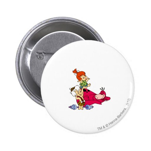 PEBBLES™ and Bam Bam  and Dino Playtime Pinback Buttons