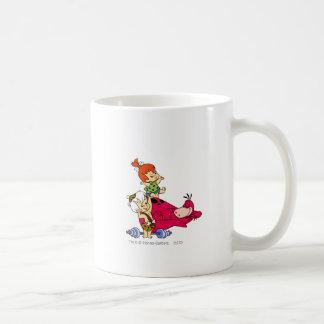 PEBBLES™ and Bam Bam  and Dino Playtime Classic White Coffee Mug