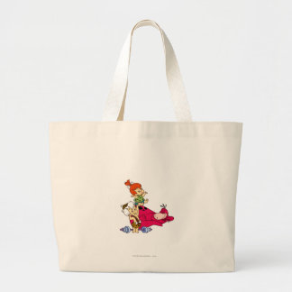 PEBBLES™ and Bam Bam  and Dino Playtime Large Tote Bag