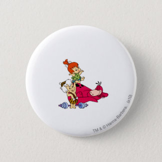 PEBBLES™ and Bam Bam  and Dino Playtime Pinback Button