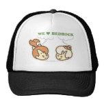 Pebbles and Bam Bam Love Bedrock Mesh Hat