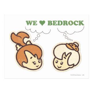 PEBBLES™ and Bam Bam Love Bedrock Postcard