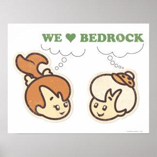 PEBBLES™ and Bam Bam Love Bedrock Poster