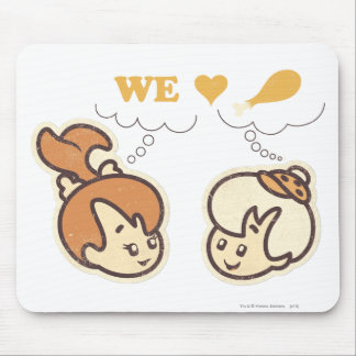 PEBBLES™ and Bam Bam Love Food Mouse Pad
