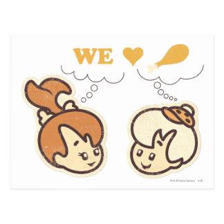 PEBBLES™ and Bam Bam Love Food Postcard