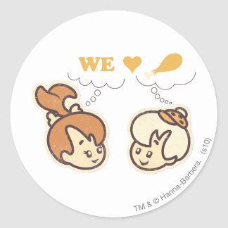 PEBBLES™ and Bam Bam Love Food Round Stickers