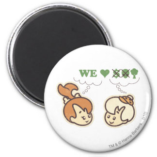 PEBBLES™ and Bam Bam Loves Nature 2 Inch Round Magnet