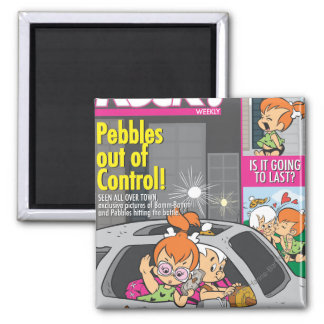 PEBBLES™ and Bam Bam Out of Control 2 Inch Square Magnet
