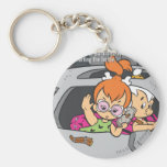 Pebbles and Bam Bam Out of Control Key Chains