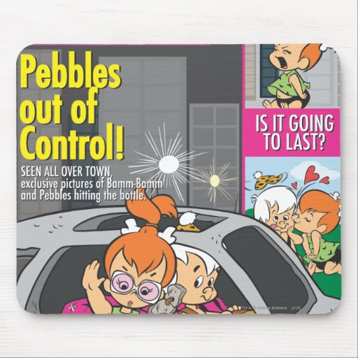 PEBBLES™ and Bam Bam Out of Control Mouse Pad