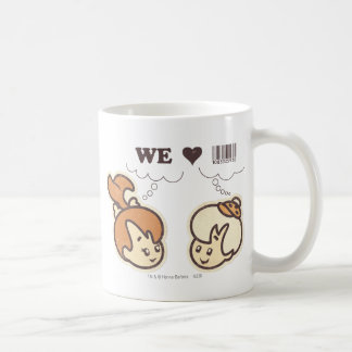 Pebbles and Bam Bam We Love Classic White Coffee Mug