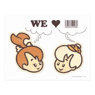 Pebbles and Bam Bam We Love Postcard