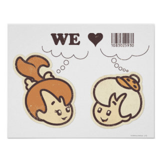 Pebbles and Bam Bam We Love Poster