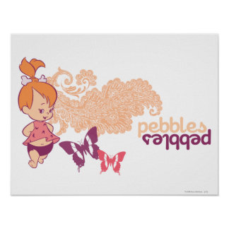PEBBLES™ and Butterflies Poster