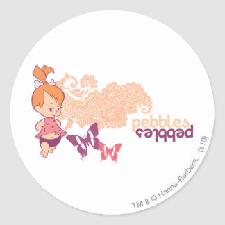 PEBBLES™ and Butterflies Classic Round Sticker
