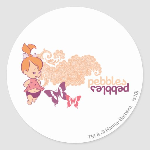 PEBBLES™ and Butterflies Round Stickers