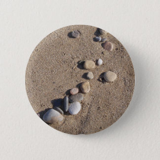 Pebbles and Sand Button Pin