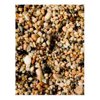 Pebbles background postcard