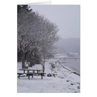 Pebbles Beach Winter Scene 2 Card